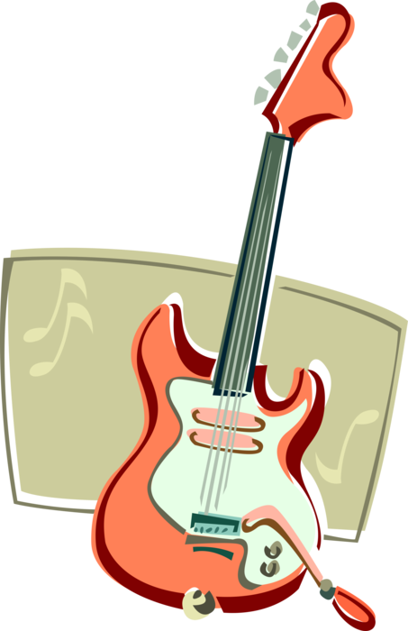 royalty free stock Electric image illustration of. Vector ai guitar