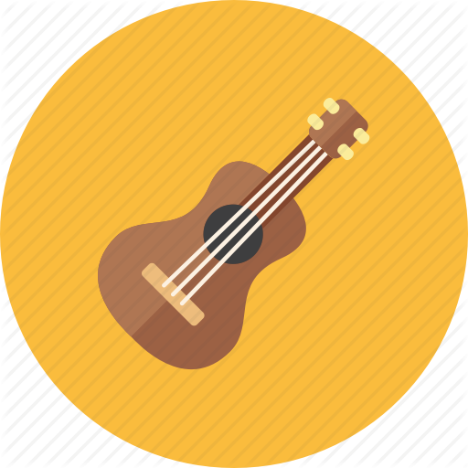 image free stock Vector ai guitar. Audio icons rounded by