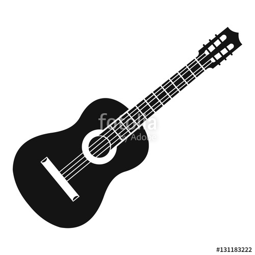 png free library Vector ai guitar. Icon simple illustration of