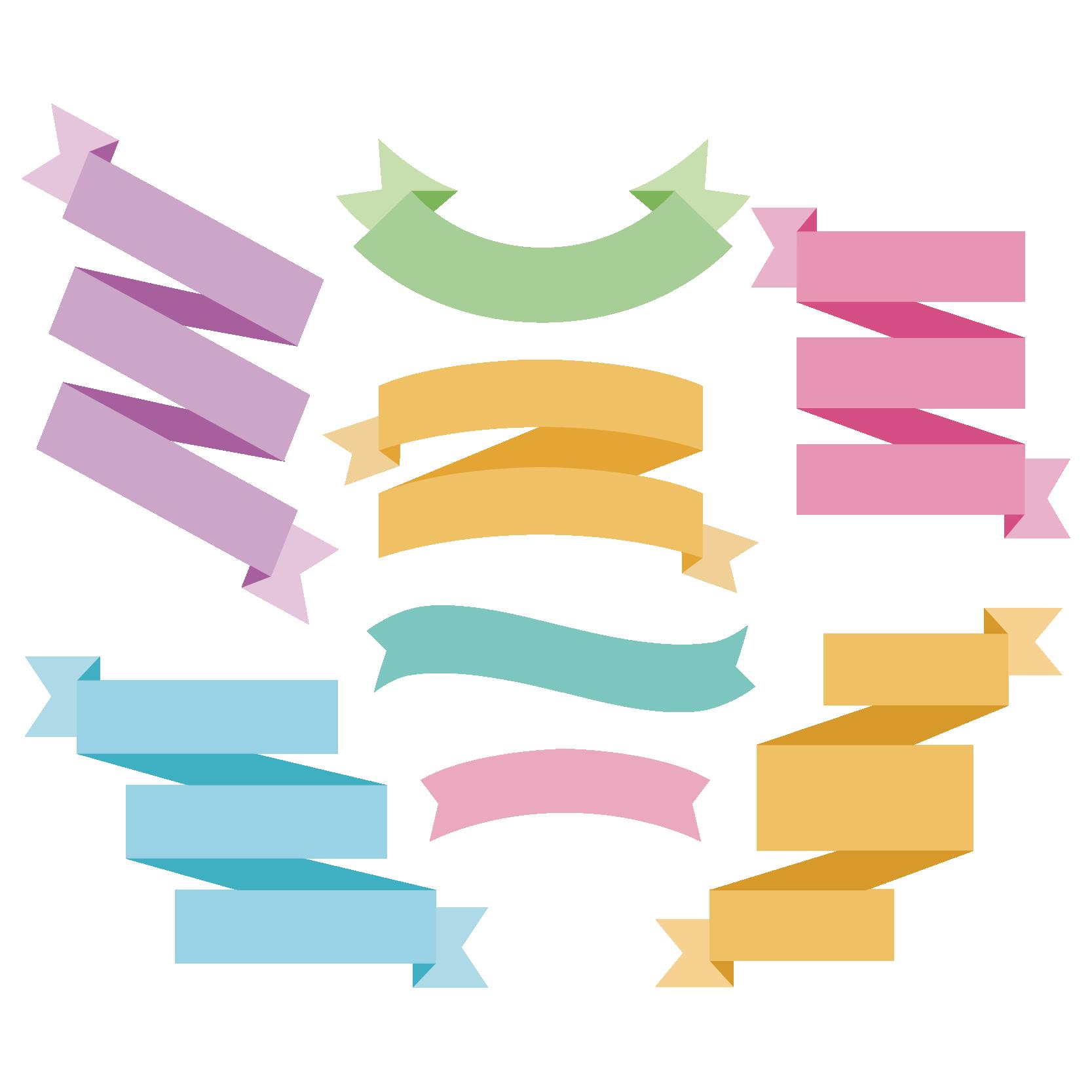 picture Vector color illustrator. Paper ribbon adobe design