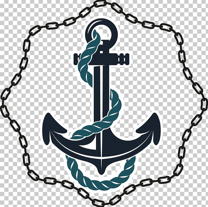 image transparent Vector anchors anchor rope. Chain drawer png clipart