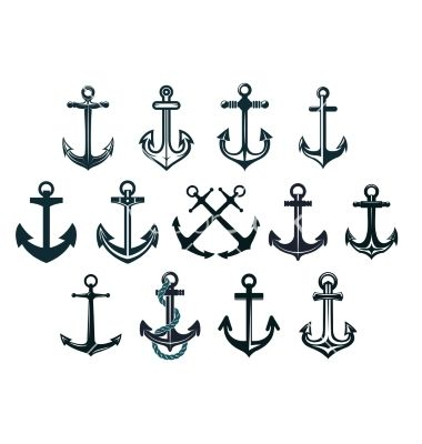 jpg black and white download Vintage marine by seamartini. Vector anchors anchor tattoo