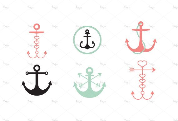 png black and white  hipster digital anchor. Vector anchors ancor