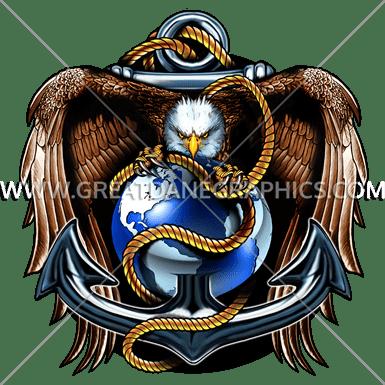 svg library Vector anchors eagle. Globe anchor production ready