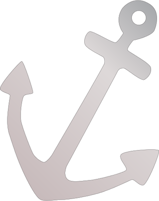 banner black and white Anchor illustration of symbol. Vector anchors high resolution