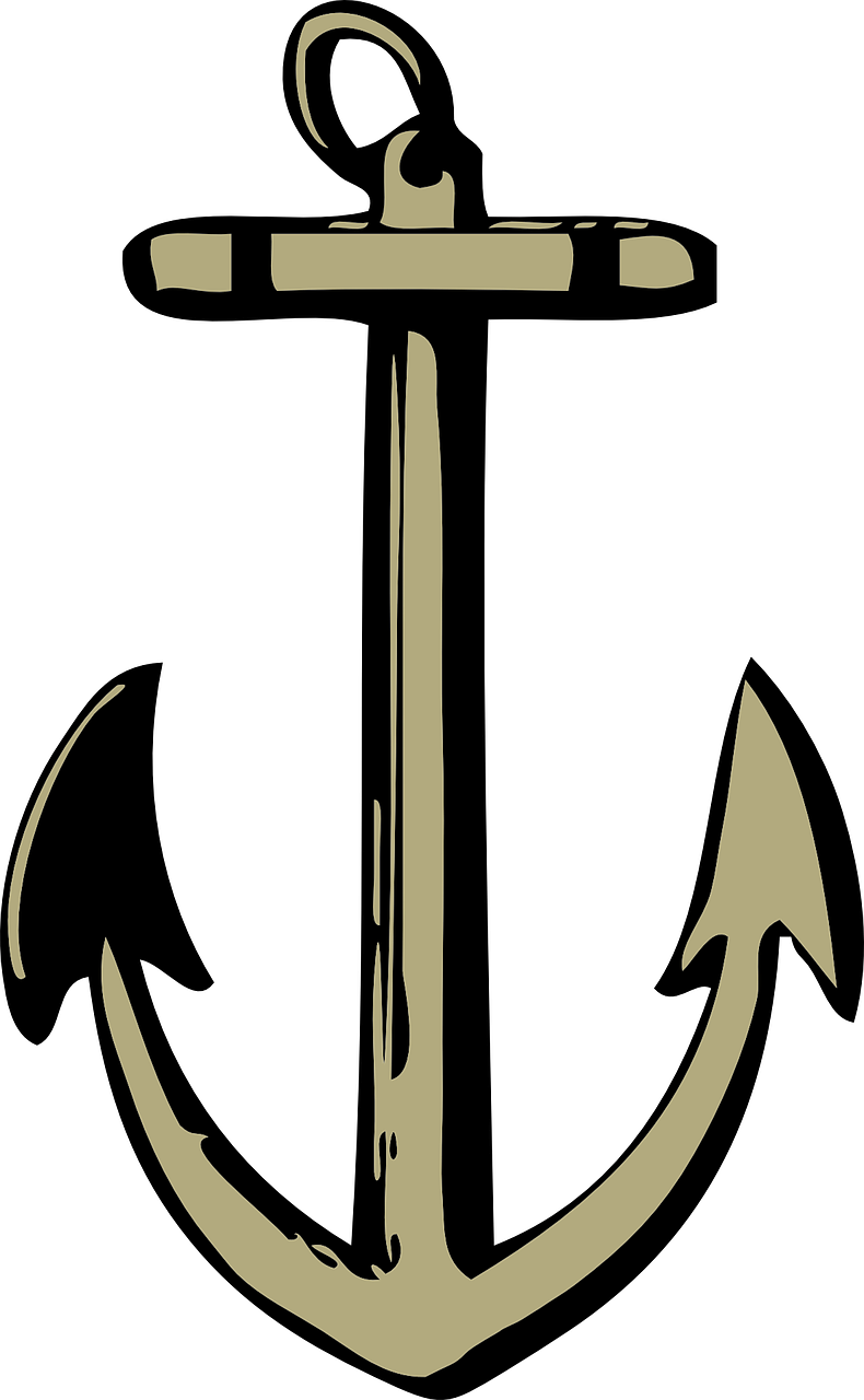 svg royalty free Vector anchors maritime. Anchor ship sailing travel