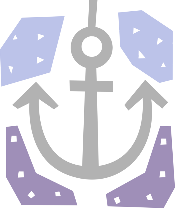 picture black and white download Boat anchor restricts motion. Vector anchors maritime