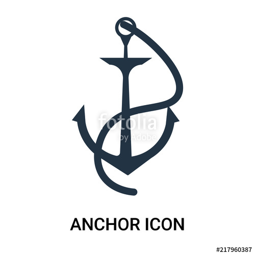 svg royalty free library Vector anchors modern. Anchor icon isolated on