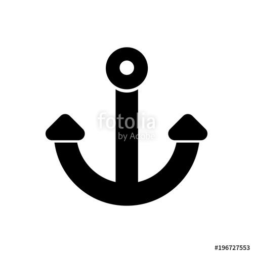 jpg royalty free library Vector anchors modern. Anchor filled icon simple
