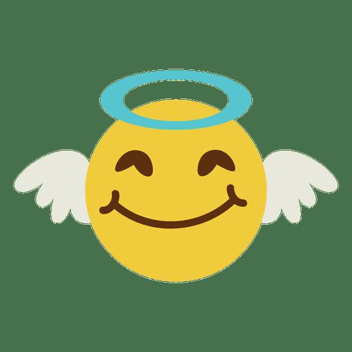 svg freeuse download Vector angel face. Smiling emoticon transparent png