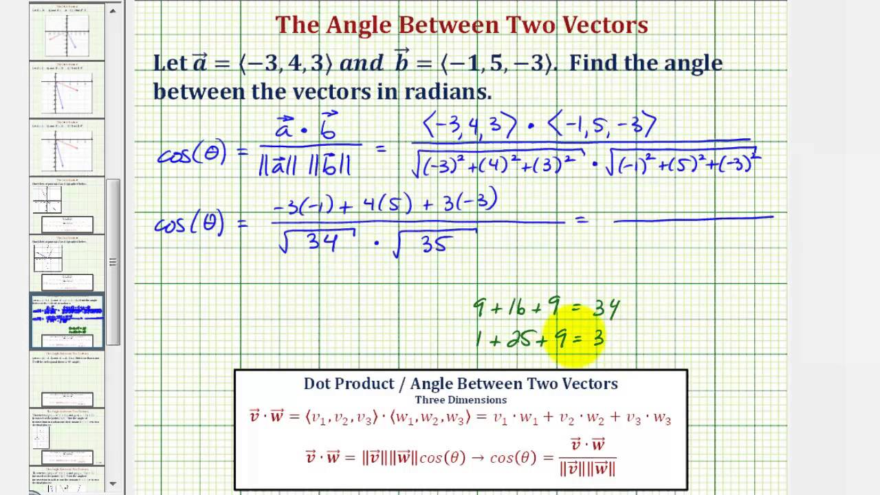 clip transparent Ex find the angle. Vector angles 3 dimension