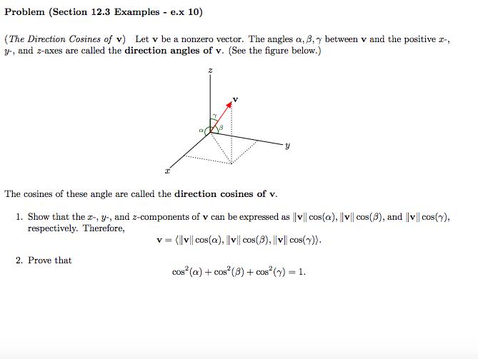 jpg free stock Vector angles alpha beta gamma. Solved let v be