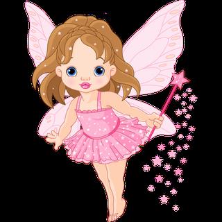 banner black and white Vector angles fairy. Baby fairies cartoon clip