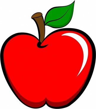 clipart free library Apple cartoon free download. Vector apples animated