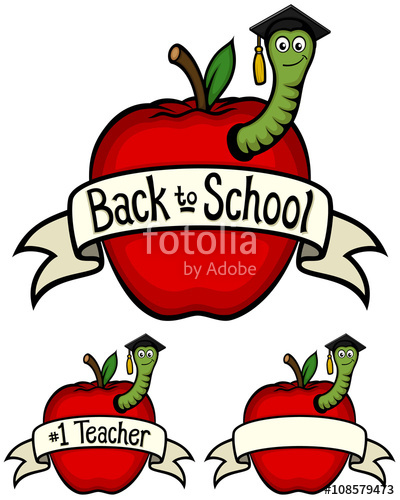 graphic transparent download Vector illustration of a variety of school