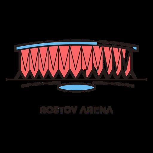 graphic transparent Vector arena. Rostov football stadium logo