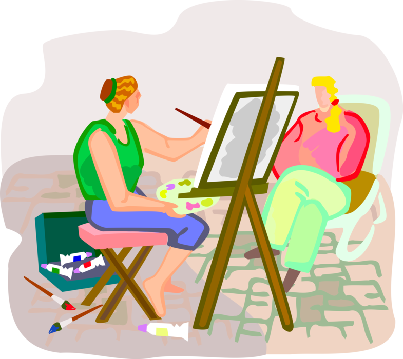 svg free Street Artist Paints Portrait
