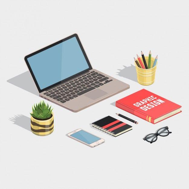image library Vector artist workspace. Cute designer free background