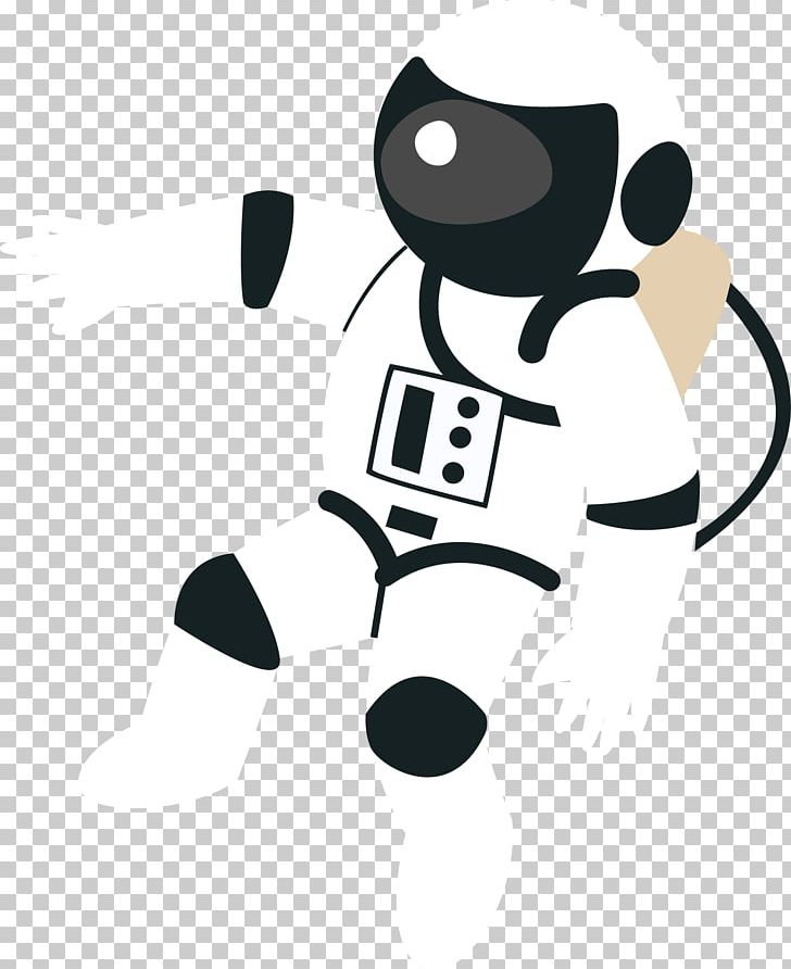 jpg black and white stock Vector astronaut. Cartoon universe illustration png