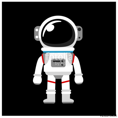clip library library Space suit isolated on. Vector astronaut