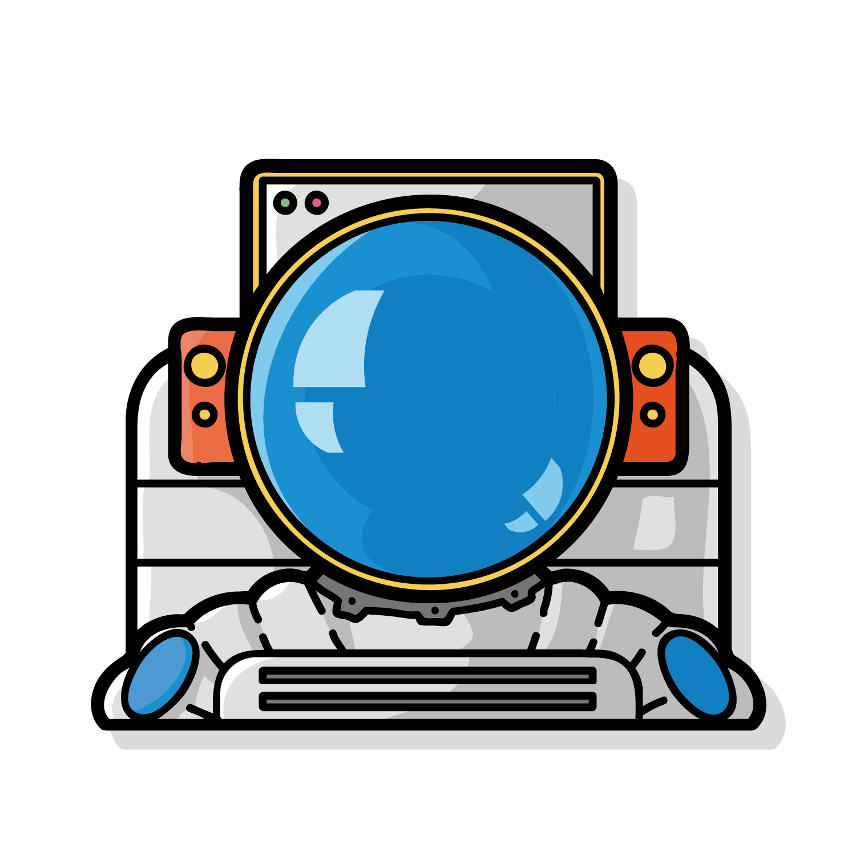 banner free stock Computer graphics Astronaut