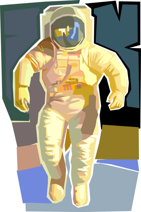 banner transparent Astronaut in Space Suit