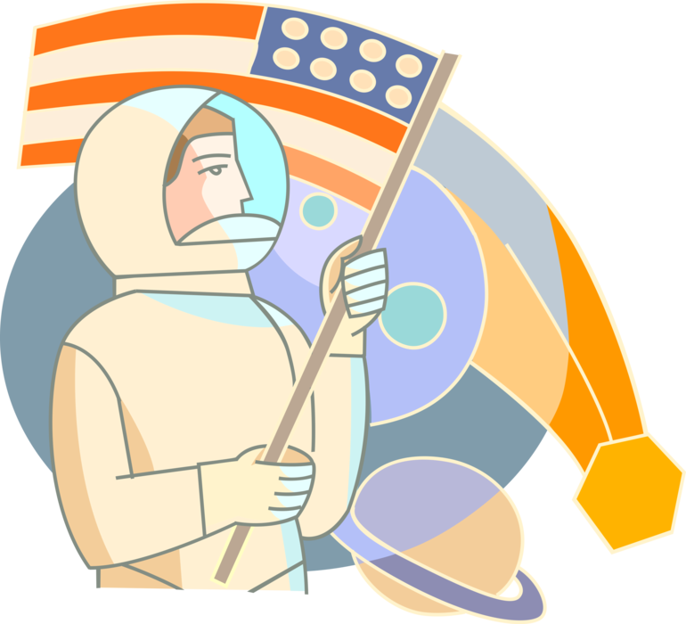 picture free download Universe vector clip art. Astronaut discovers new planets