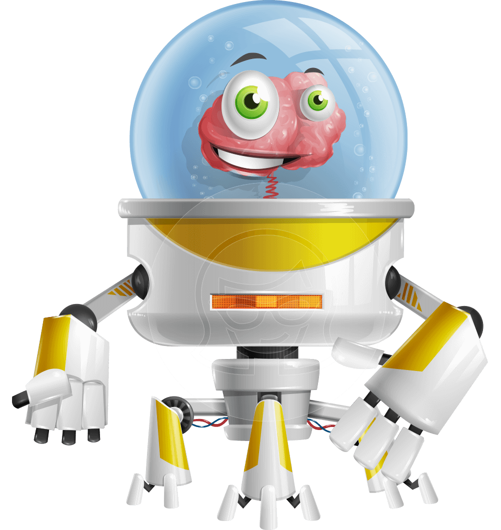 vector library stock Vector Smart Robot Helper Character