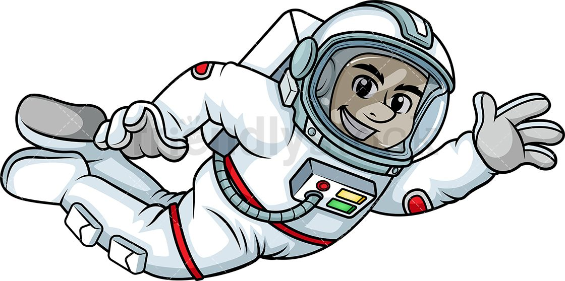 clip art royalty free download Male Astronaut Floating In Space