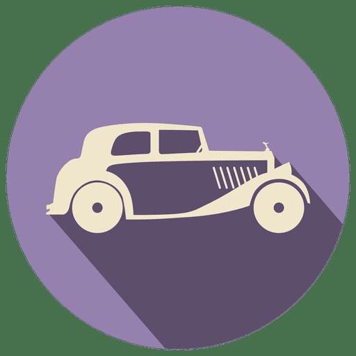 clip art freeuse stock Retro car icon label