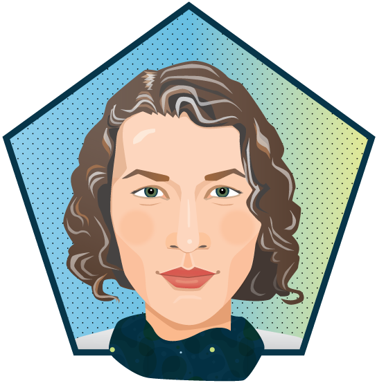 graphic free stock Illustration lorna nakell. Vector avatar