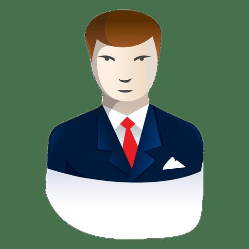 clip art freeuse Vector avatar businessman. Cartoon transparent png svg