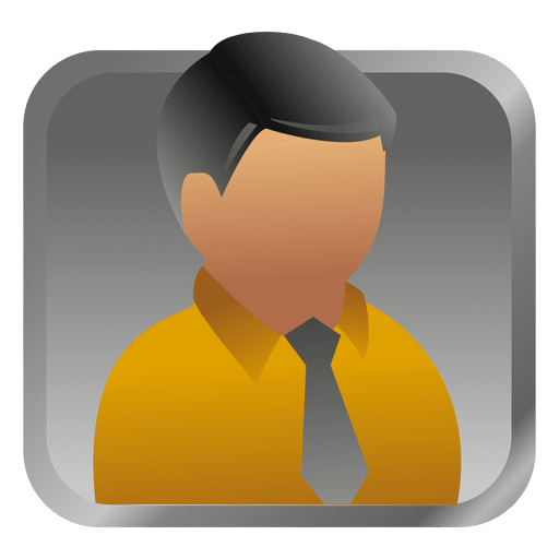 vector transparent Vector avatar businessman. Yellow square transparent png