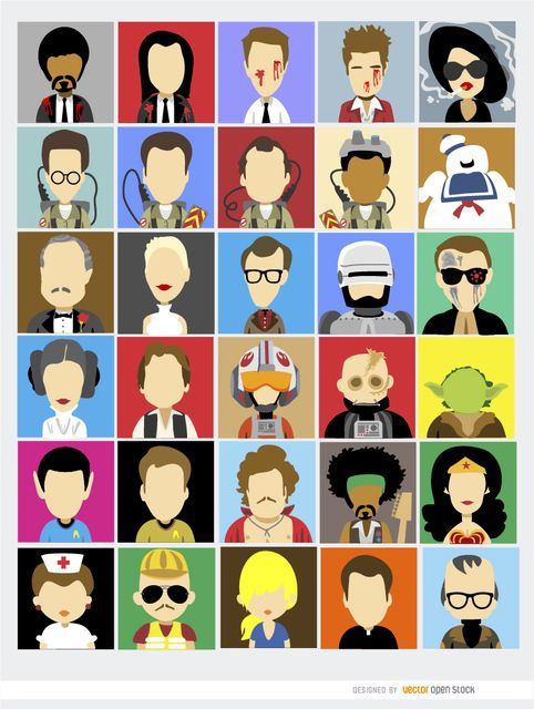 image freeuse stock Vector avatar cool.  avatars film famous