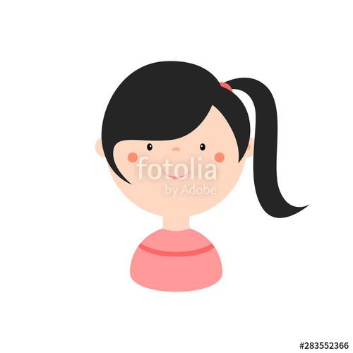 clip art library stock Cartoon colorful simple flat. Vector avatar cute