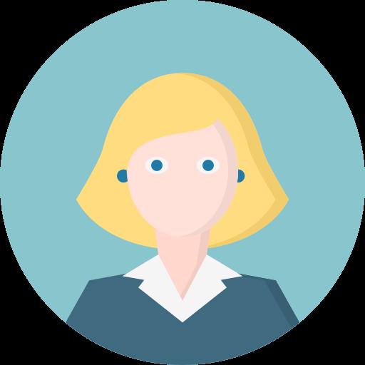 vector black and white Vector avatar eye. Woman blonde blue eyes