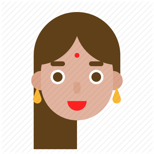 vector transparent download Set one by icon. Vector avatar indian