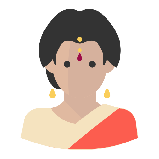 jpg library library Bengali woman leader icon. Vector avatar indian