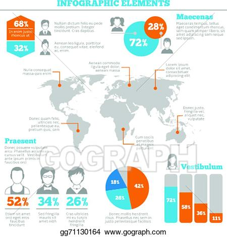 vector free Vector avatar infographic. Clip art elements layout