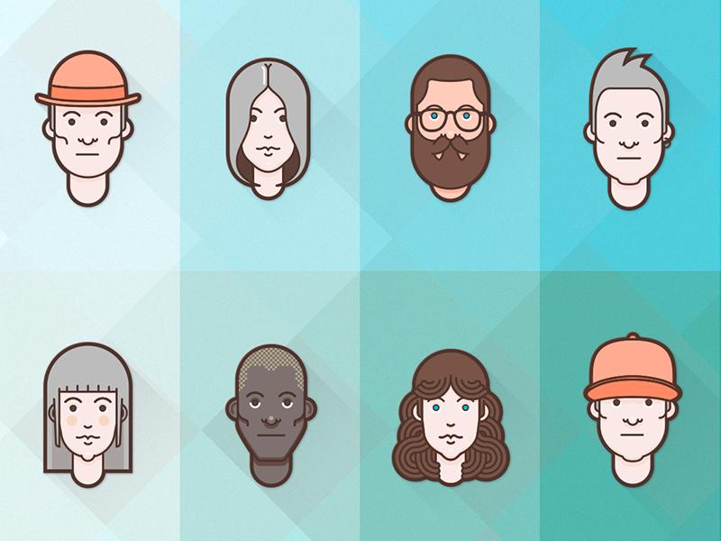 clipart royalty free download Flat premium set avatars. Vector avatar material design
