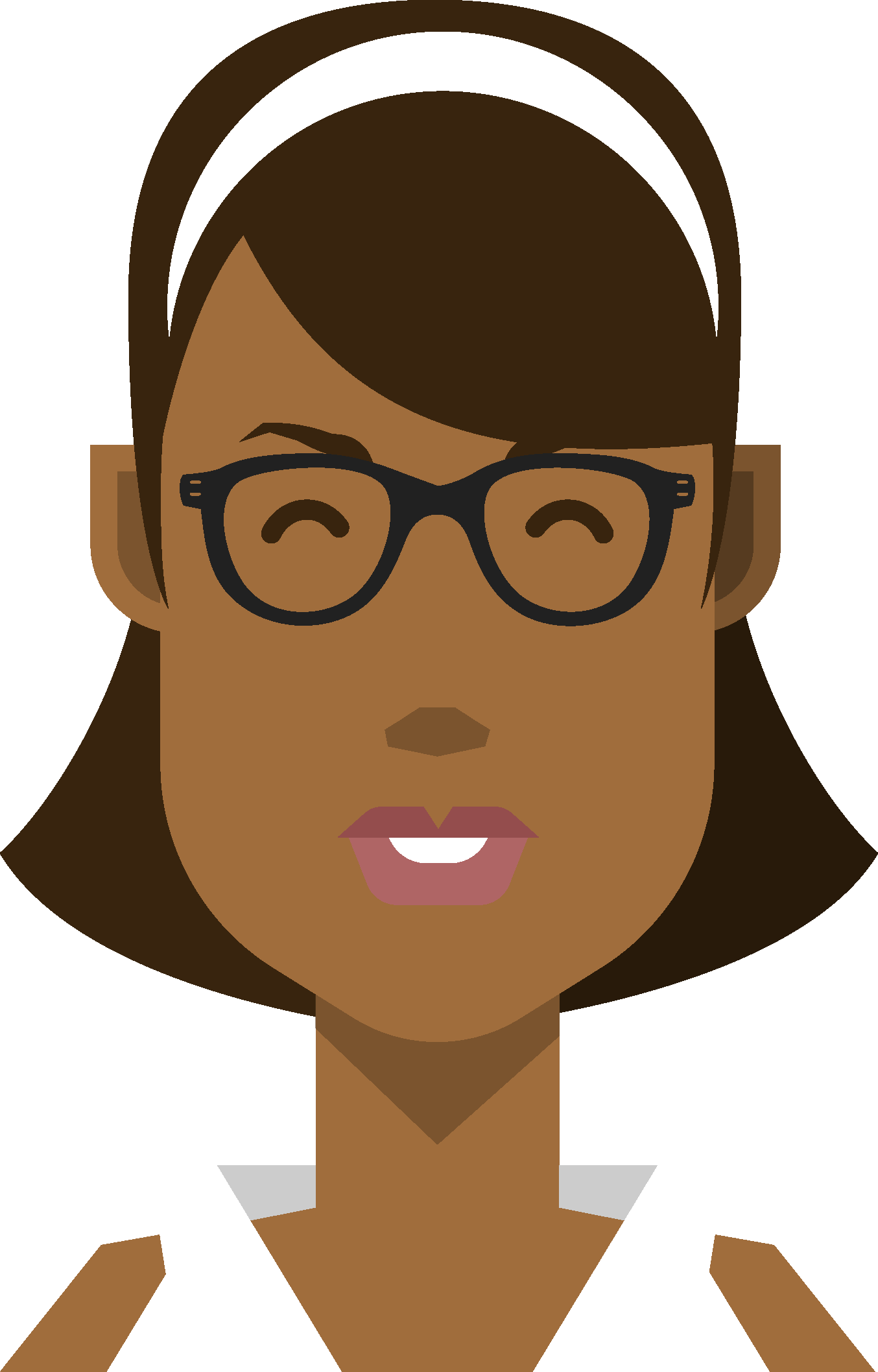 clip black and white library Vector avatar material design. Free illustrated avatars do