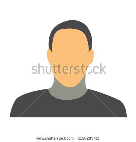 clip freeuse download Man icon flat . Vector avatar minimal