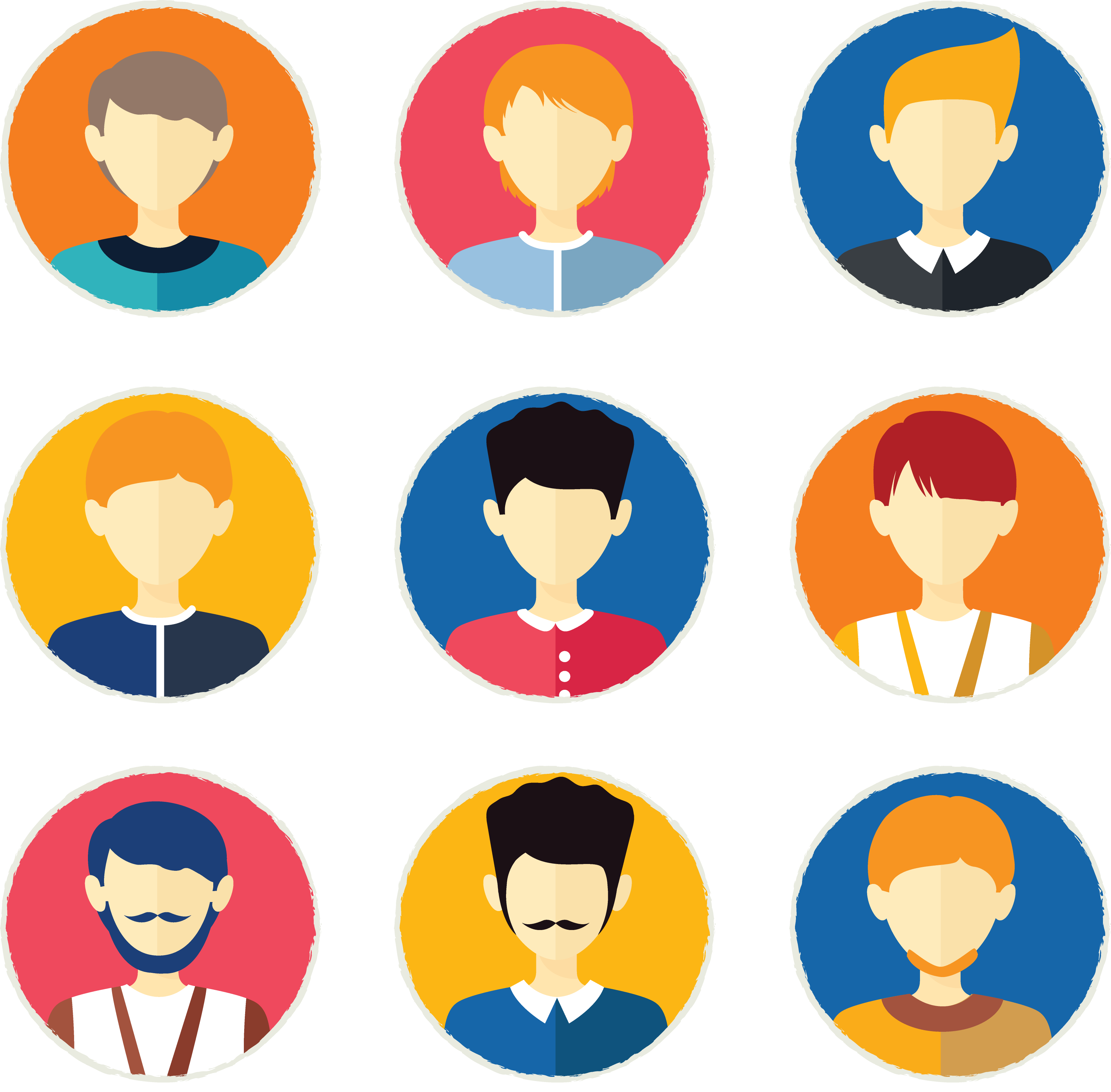 clipart Euclidean icon personalized tab. Vector avatar people
