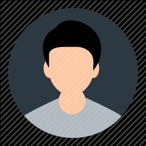jpg transparent stock Vector avatar student. Business round flat vol