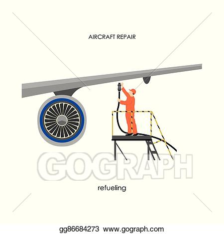 png freeuse library Vector aviation aircraft mechanic. Eps repair and maintenance