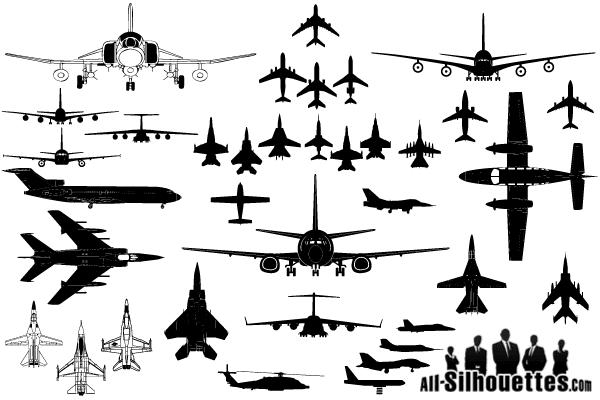 banner freeuse Vector aviation airplane clipart. Silhouettes clip art
