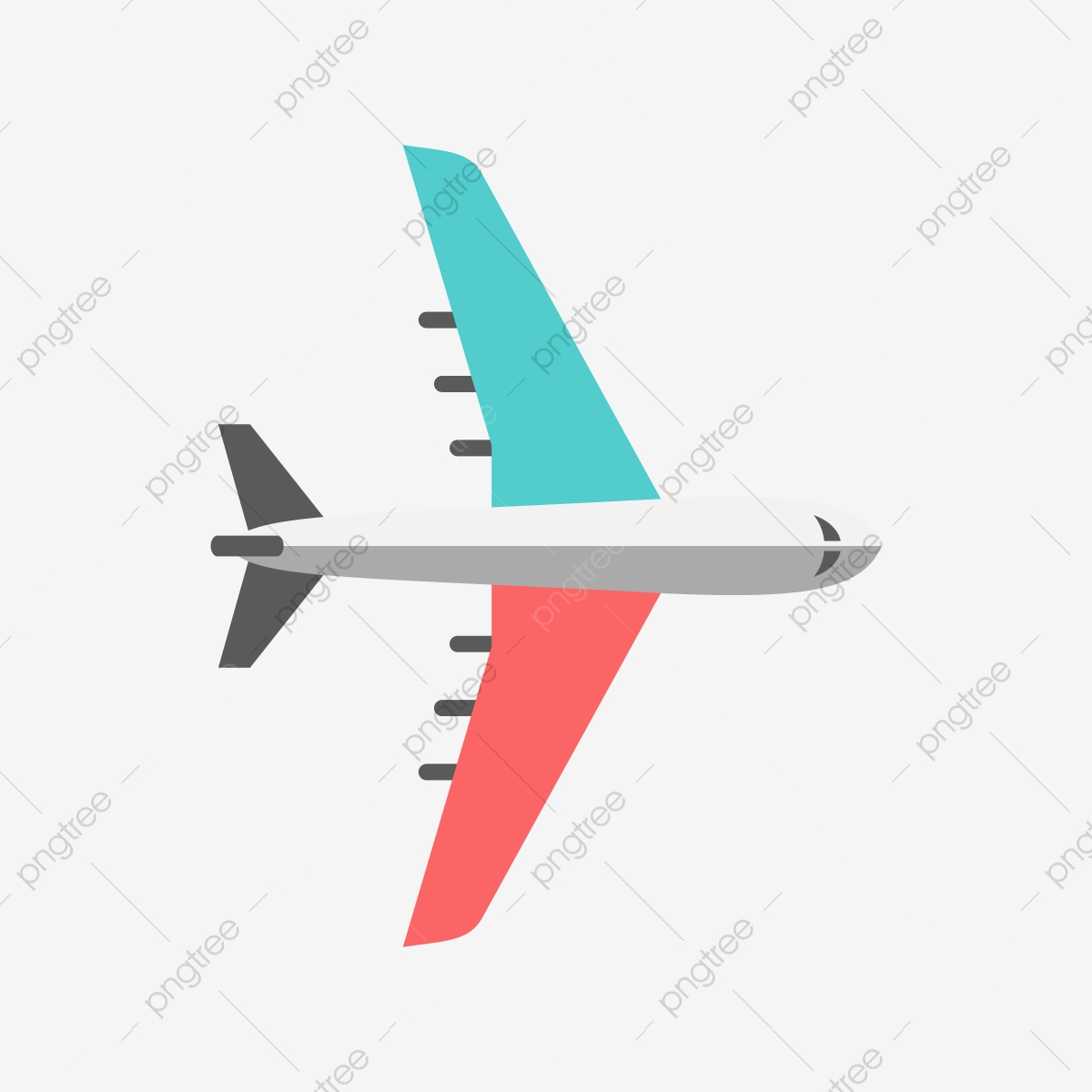 clip art library Blue and red png. Vector aviation airplane clipart