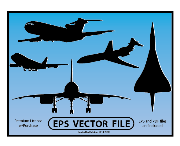 clip transparent library Vector aviation concorde. Airline jet silhouette and