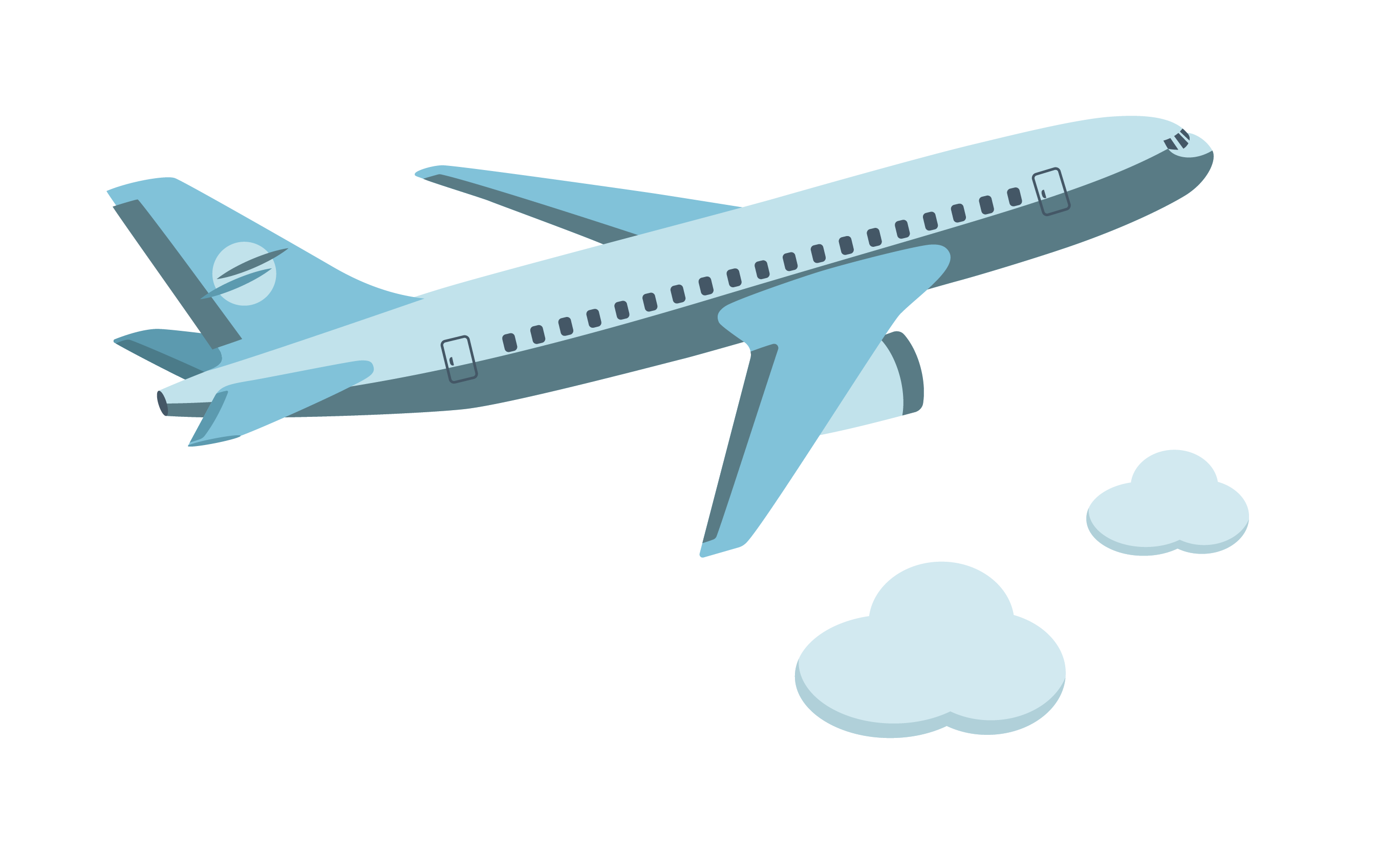 clipart freeuse stock Airplane aircraft cartoon flying. Vector aviation icon