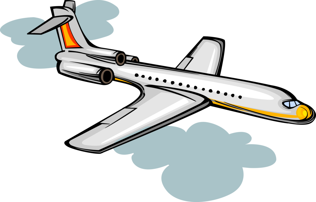 clipart free download Passenger jet airplane aircraft. Vector aviation illustrator